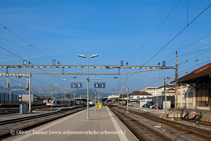 """Bahnhof """"Delémont"""""""