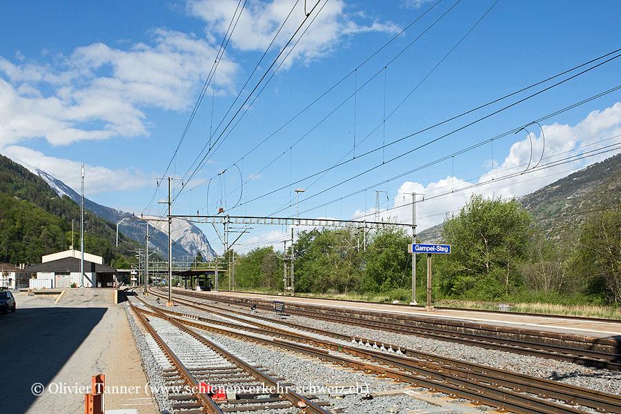 """Bahnhof """"Gampel-Steg"""""""