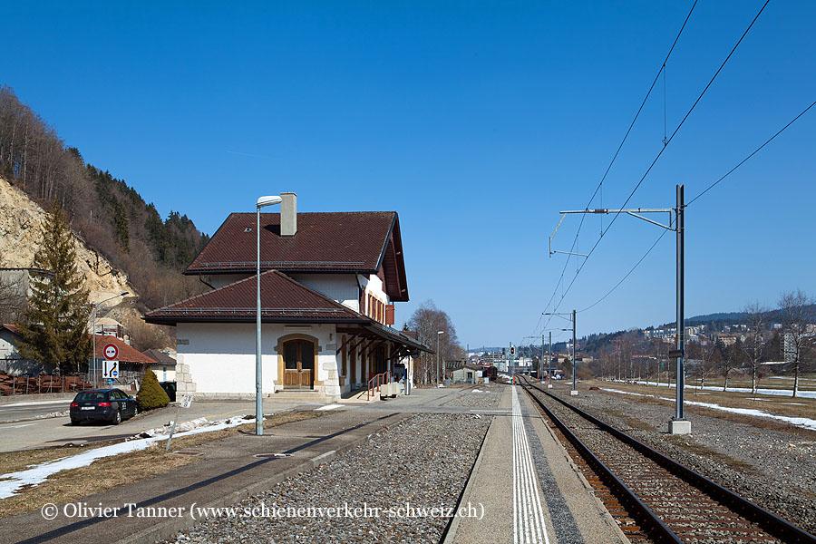 """Bahnhof """"Le Locle-Col-des-Roches"""""""