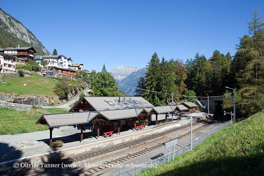 """Bahnhof """"Les Marécottes"""""""