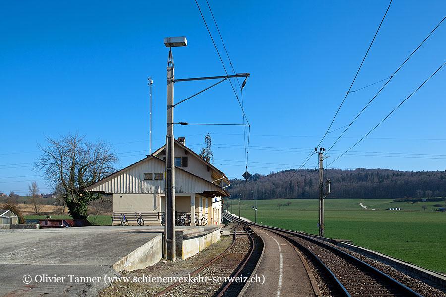 "Bahnhof ""Münchenwiler-Courgevaux"""