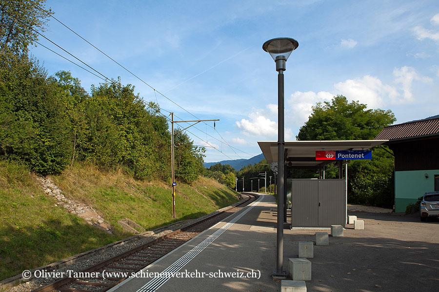 """Bahnhof """"Pontenet"""""""