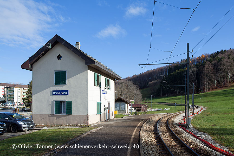 """Bahnhof """"Remaufens"""""""