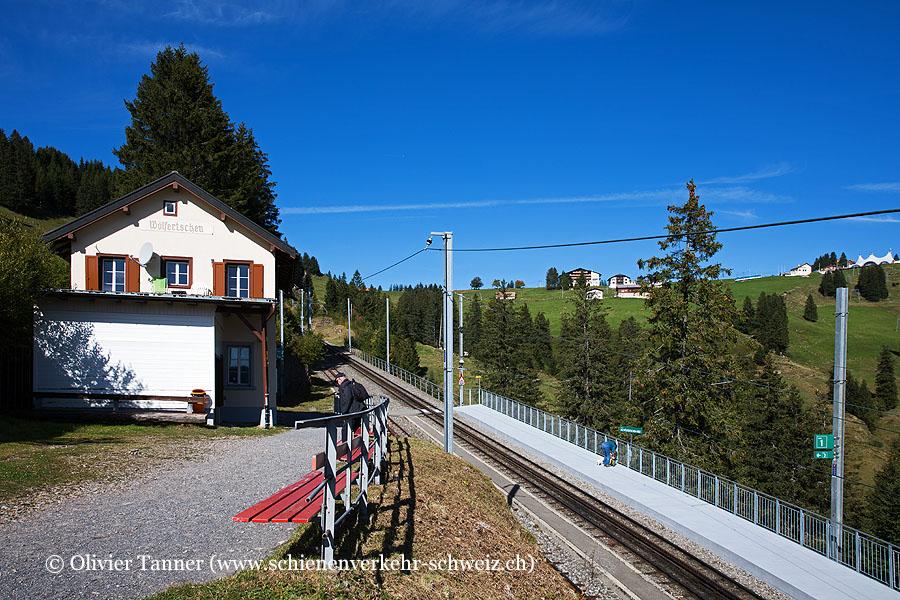 """Bahnhof """"Rigi Wölfertschen-First"""""""
