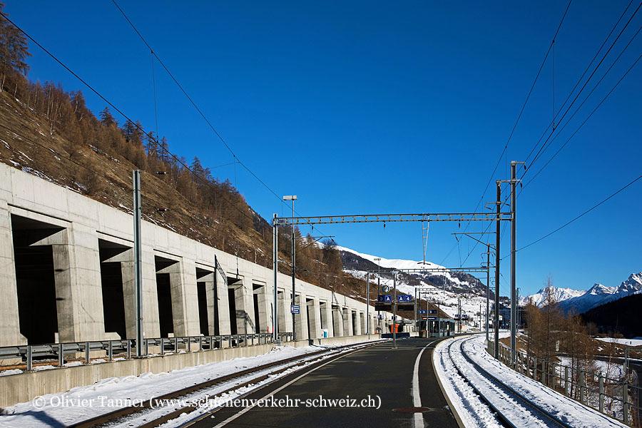 """Bahnhof """"Sagliains"""""""
