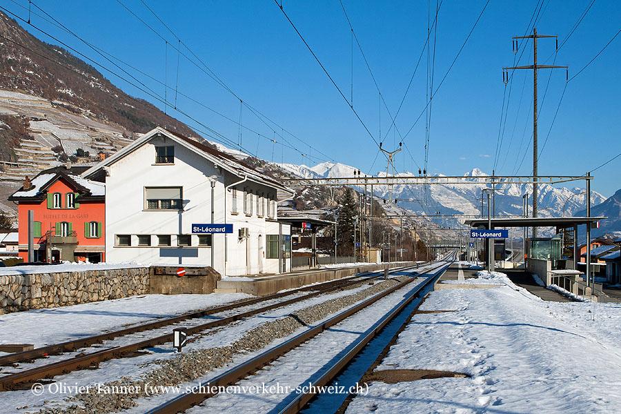 """Bahnhof """"St-Léonard"""""""