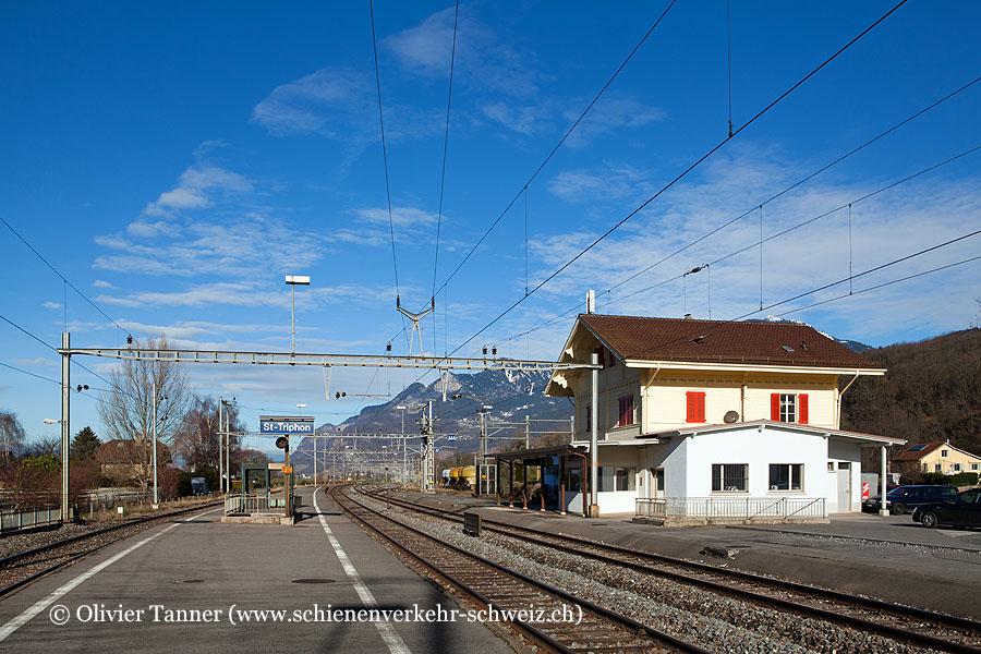 """Bahnhof """"St-Triphon"""""""