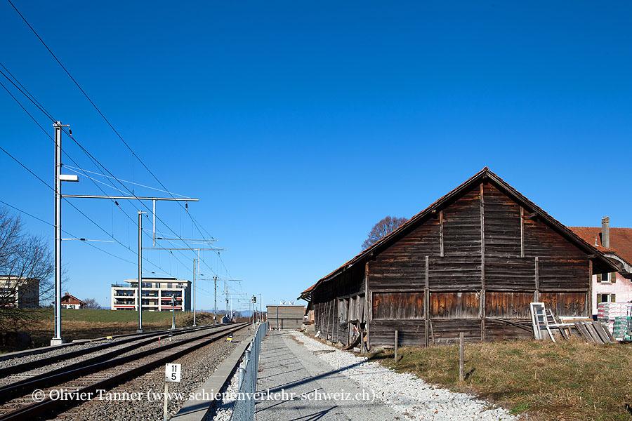 """Bahnhof """"Vuisternens-devant-Romont"""""""