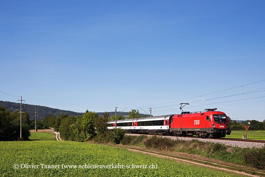 Br 1116 140 mit IC4 Stuttgart – Schaffhausen – Zürich