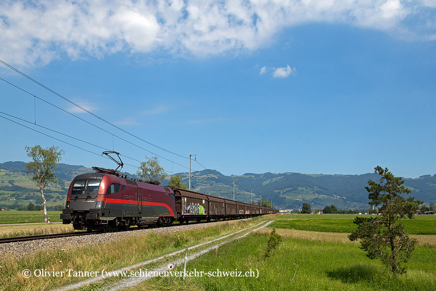 Br 1116 215 mit dem RedBull-Zug