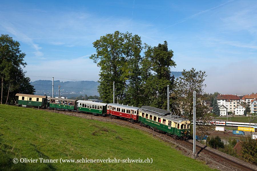 BCFeh 4/4 5 anlässlich des Jubiläums ''125 Jahre St. Gallen – Gais''