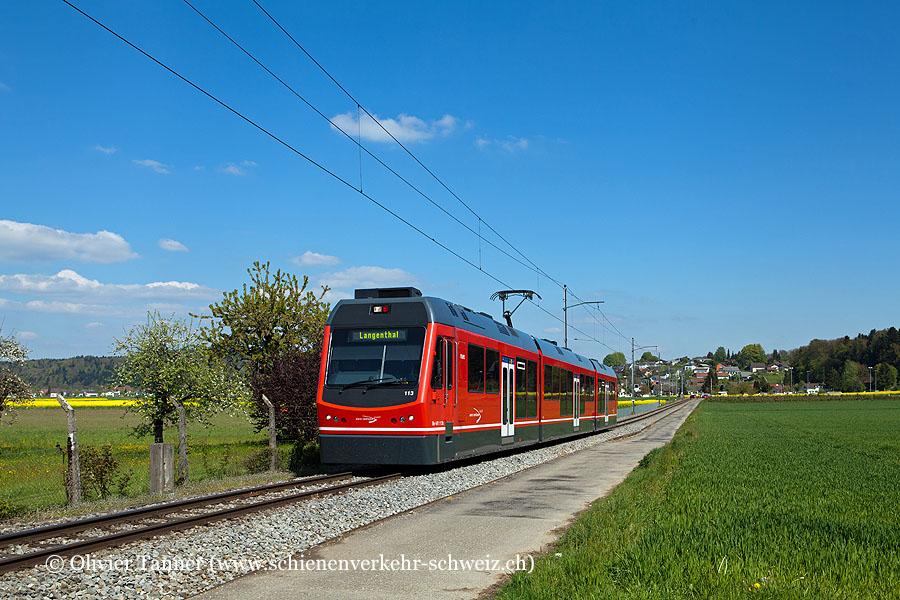 Be 4/8 113 als Regio St. Urban Ziegelei – Langenthal