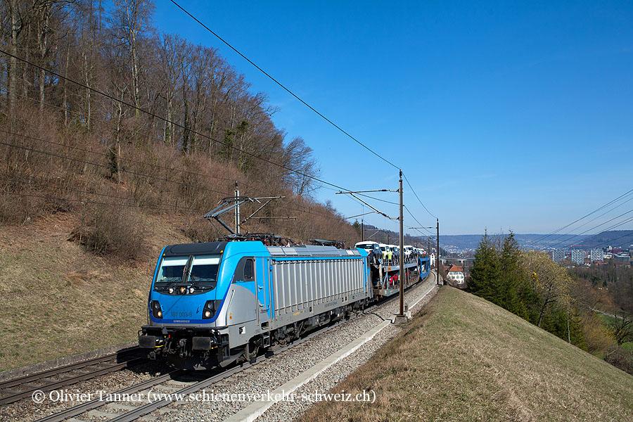 Br 187 003 (angemietet von Railpool) mit Auto-Neuwagen