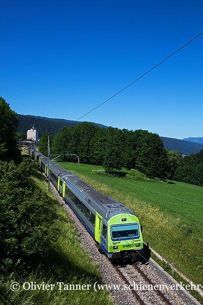 Einheitswagen III Pendelzug als RegioExpress La Chaux-de-Fonds – Neuchâtel – Bern