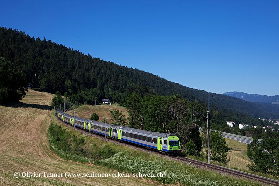Kamblyzug aus EW III Wagen als RegioExpress La Chaux-de-Fonds – Neuchâtel – Bern