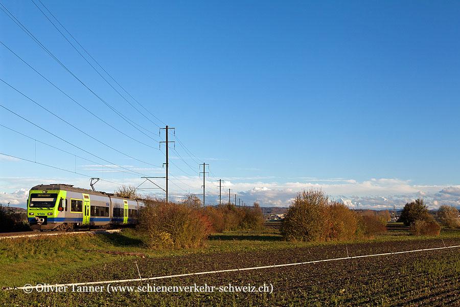 RABe 525 019 als RegioExpress Bern – Neuchâtel