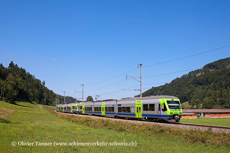 RABe 525 033 und RABe 525 013 als S6 Langenthal / Langnau – Wolhusen – Luzern