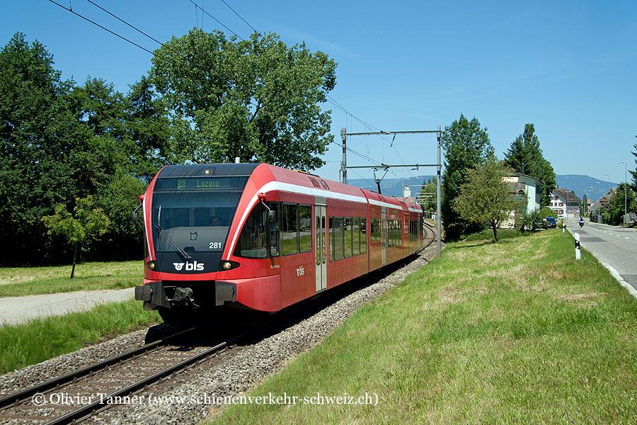 RABe 526 281 als S6 Langenthal – Wolhusen – Luzern