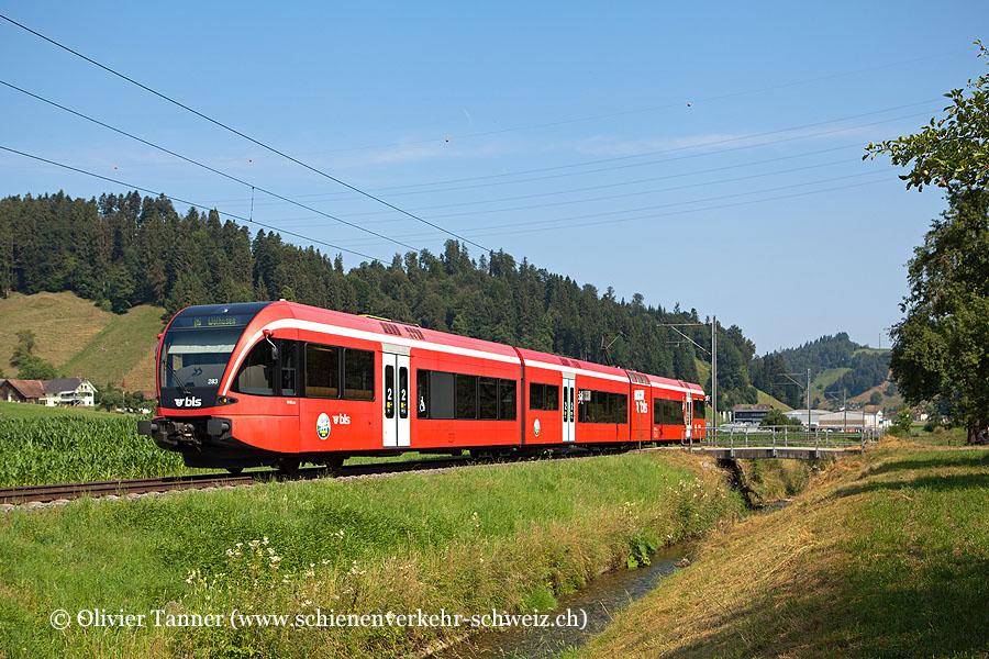 RABe 526 283 als S7 Willisau – Wolhusen
