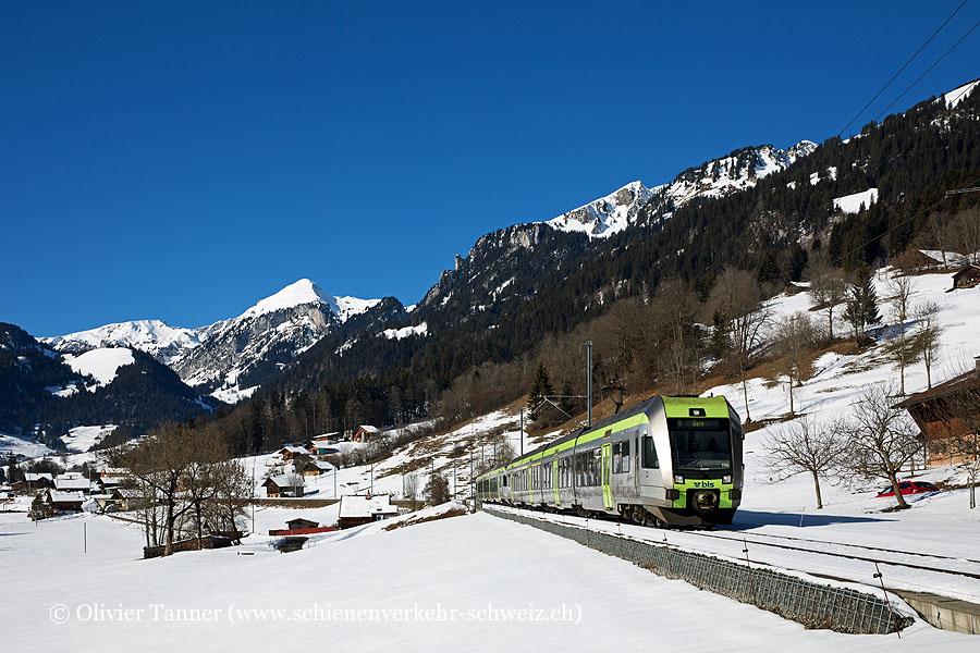RABe 535 110 und RABe 535 107 als Regio Zweisimmen – Spiez – Bern