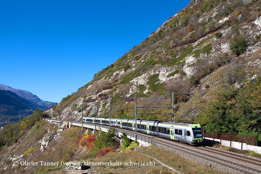 RABe 535 111 und RABe 535 116 als RegioExpress Bern – Spiez – Brig