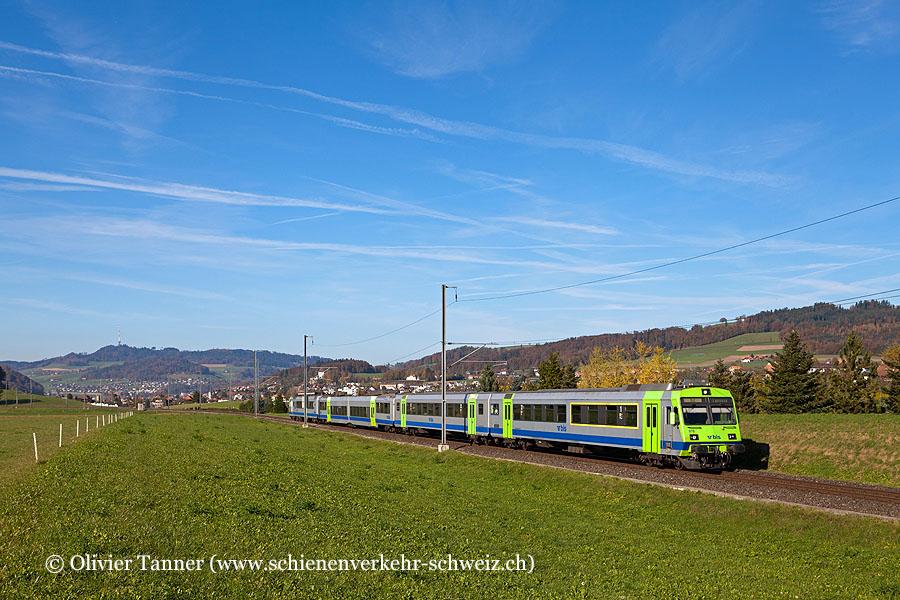 Nahverkehrspendelzug mit RBDe 565 738 als S2 Laupen – Bern – Langnau i. E.