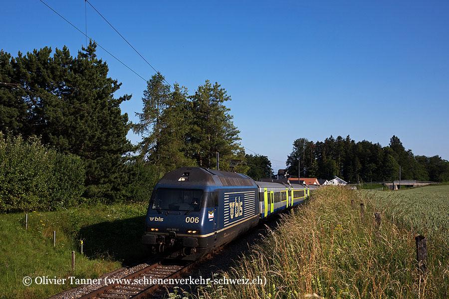 Re 465 006 als RegioExpress Bern – Neuchâtel – La Chaux-de-Fonds