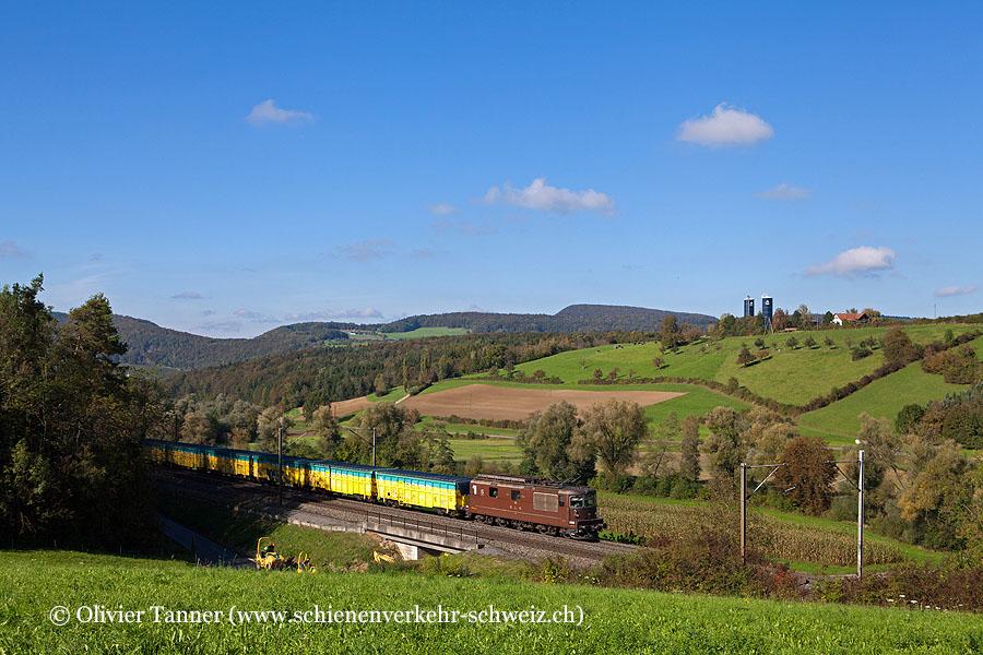 Re 4/4 181 mit dem Sondermüll-Güterzug