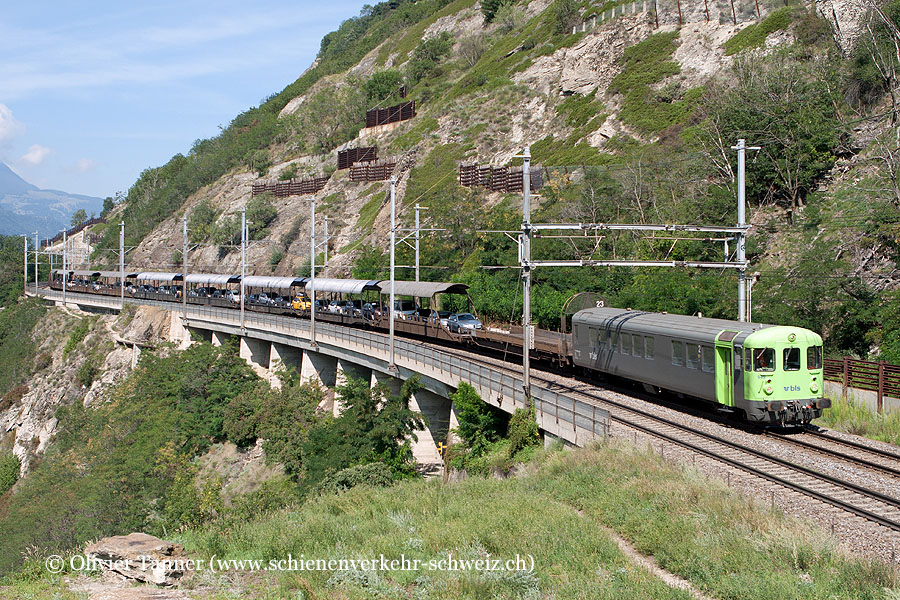 BLS Autozug Kandersteg – Iselle mit Re 4/4 180