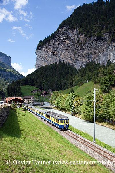 ABeh 4/4' 304 mit Regio Interlaken – Zweilütschinen – Lauterbrunnen