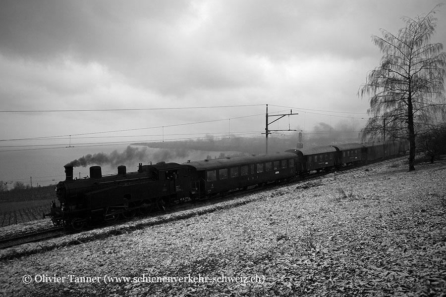 Ec 4/5 11 anlässlich der Fahrt ''Winterdampf im Jura''