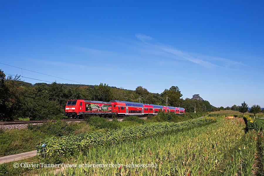 Br 146 239 mit RE Karlsruhe Hbf – Offenburg – Singen (Hohentwiel) – Konstanz