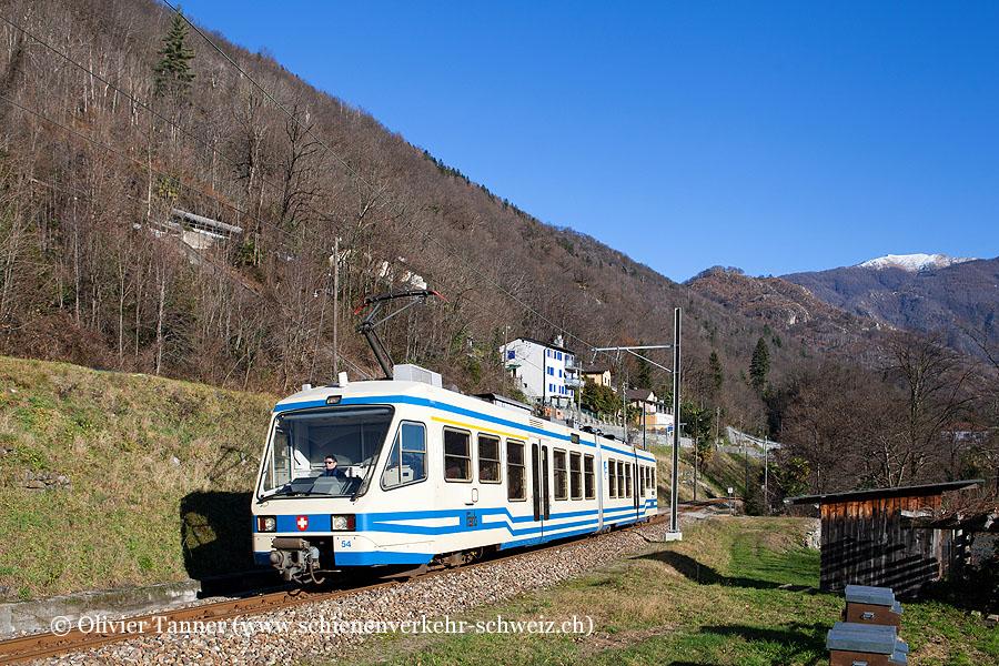 ABe 4/6 54 als Regionalzug Locarno – Intragna