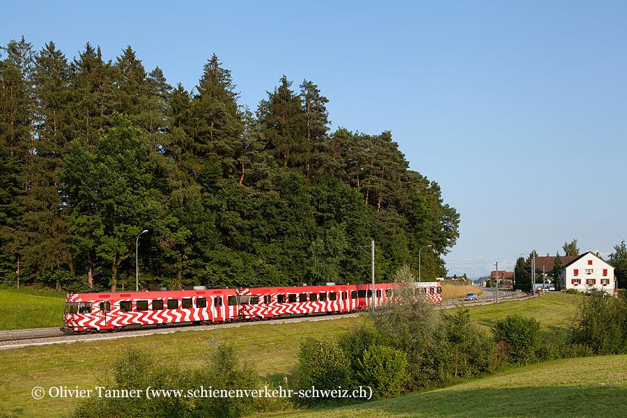 Be 4/4 14 und Be 4/4 15 (verstärkter Zug wegen dem Open Air Frauenfeld) als Regionalzug nach Frauenfeld