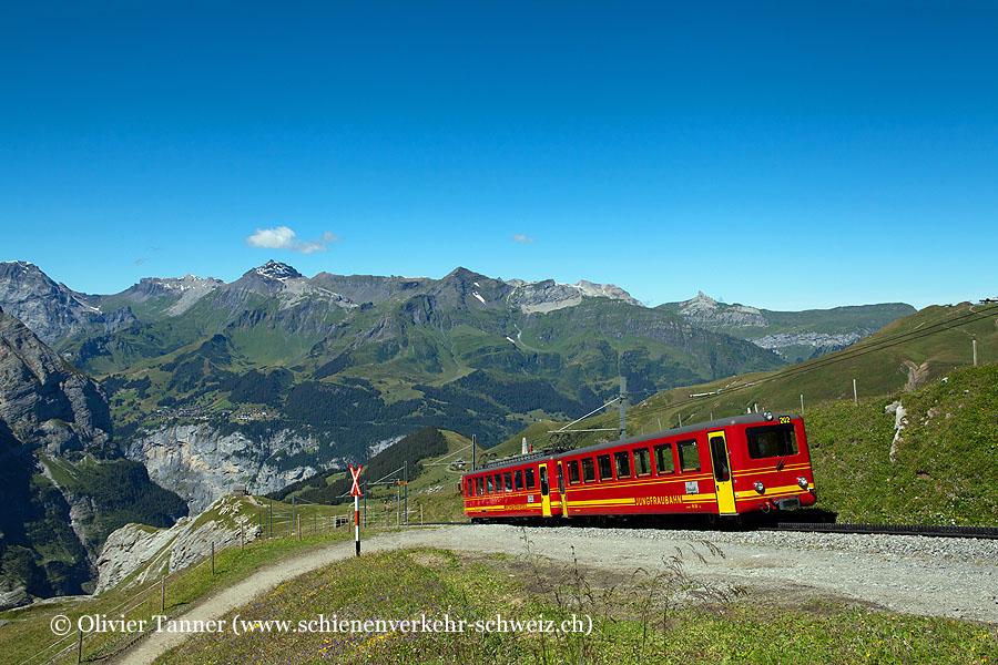 BDhe 2/4 202 auf dem Weg zum Jungfraujoch