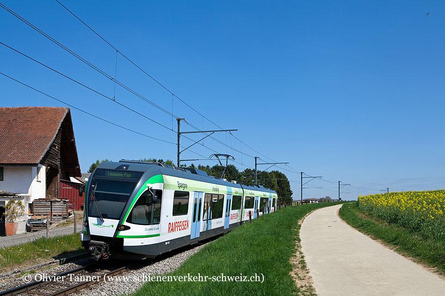 RBe 4/8 44 ''Raiffeisen'' als Regio Bercher – Lausanne-Flon