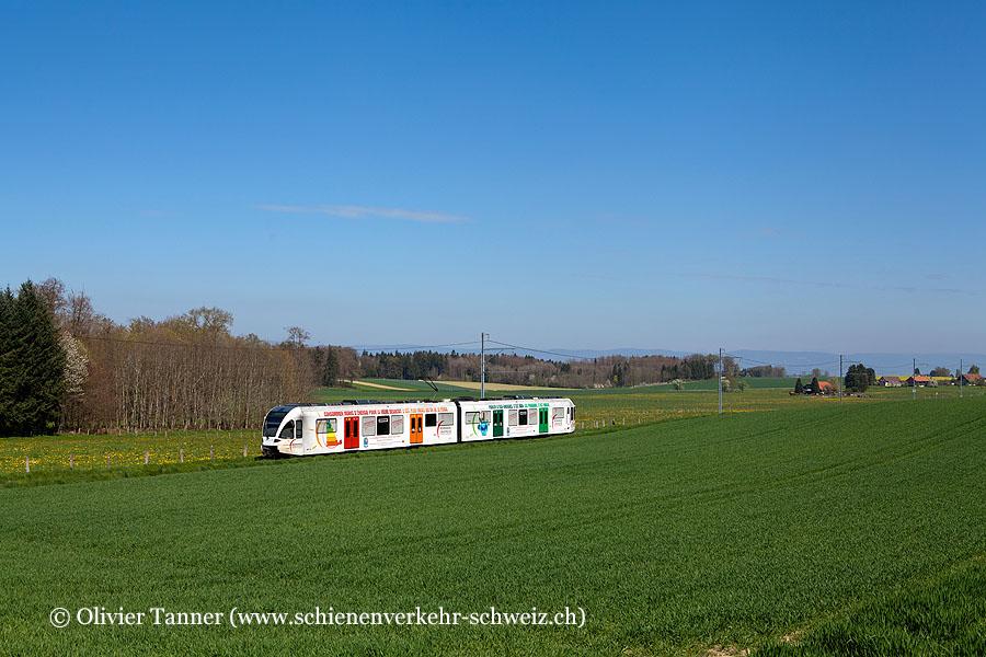RBe 4/8 46 ''Romande Energie'' als Regio Bercher – Lausanne-Flon