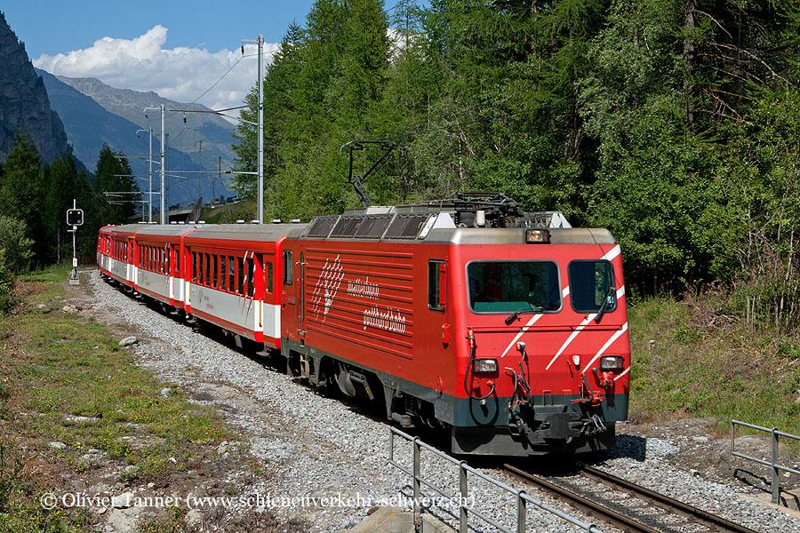 HGe 4/4'' 2 als Regio Brig – Zermatt