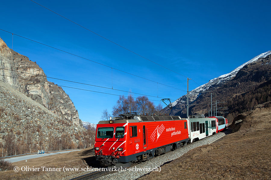 HGe 4/4'' 5 als Regio Visp – Zermatt