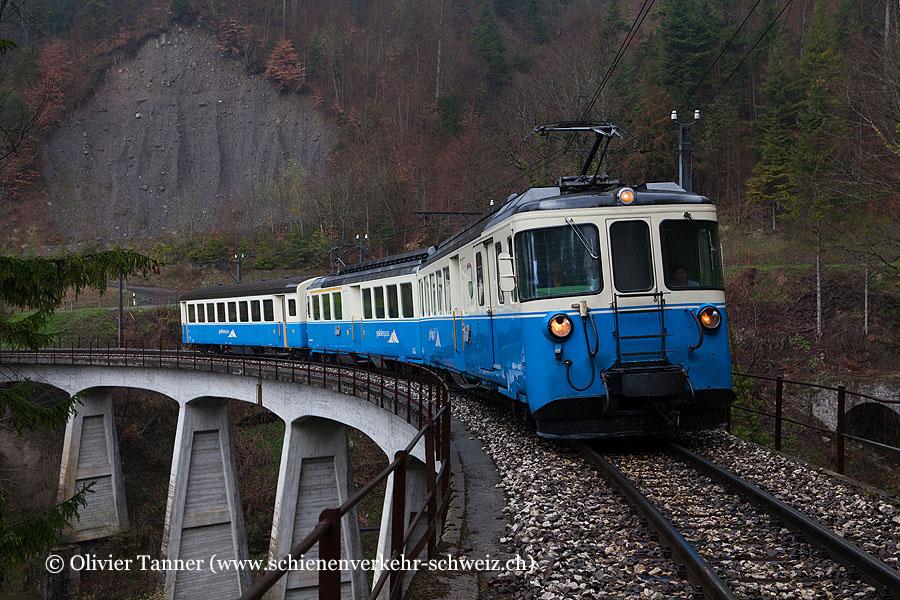 ABDe 8/8 4002 anlässlich der BFS Fotofahrt ''Zwischen Simmental und Genfersee''