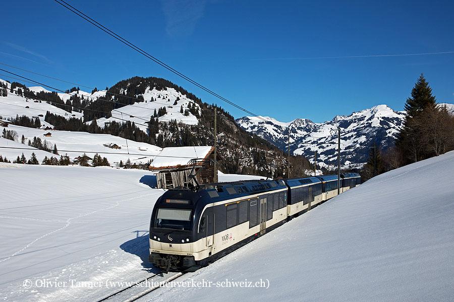ABe 4/4 9301 und Be 4/4 9201 auf dem Weg nach Montreux