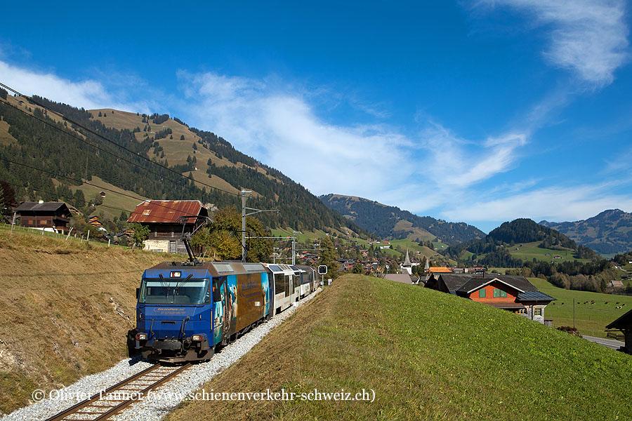 Ge 4/4 8002 auf dem Weg nach Montreux