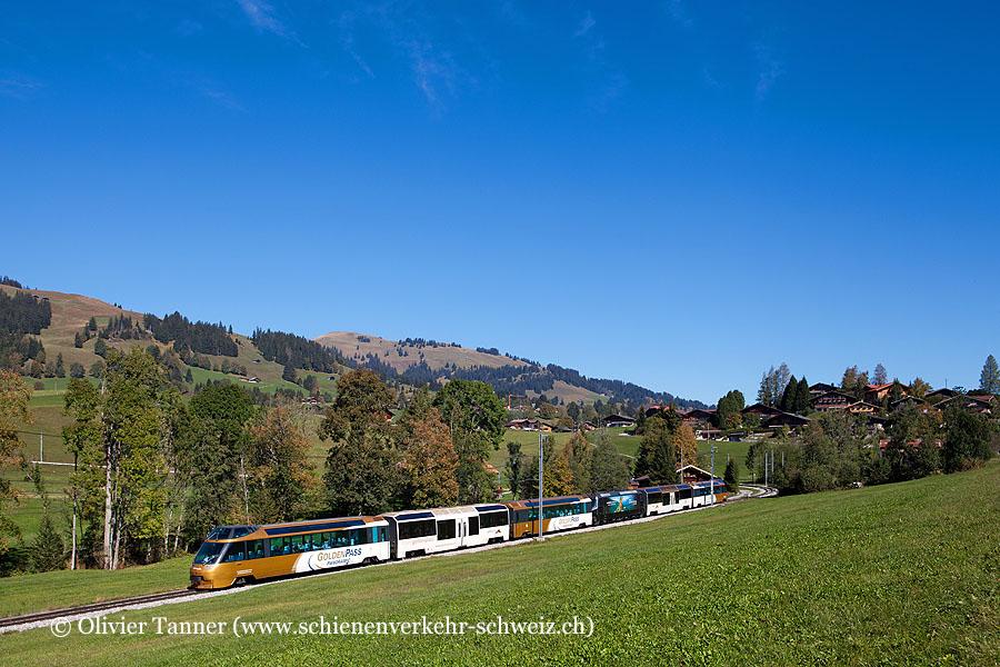 GoldenPass Panoramic mit Ge 4/4 8003 auf dem Weg nach Montreux