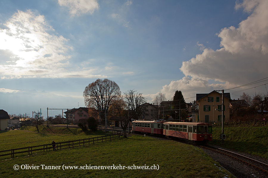 BDeh 2/4 74 als Regionalzug Vevey – Blonay
