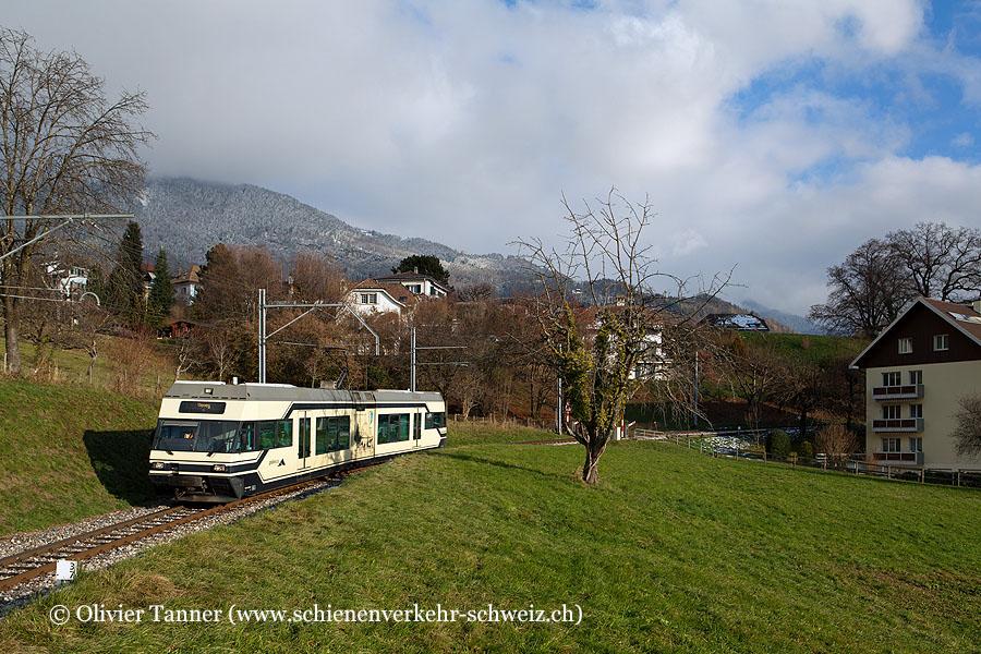 Be 2/6 7004 als Regionalzug Blonay – Vevey