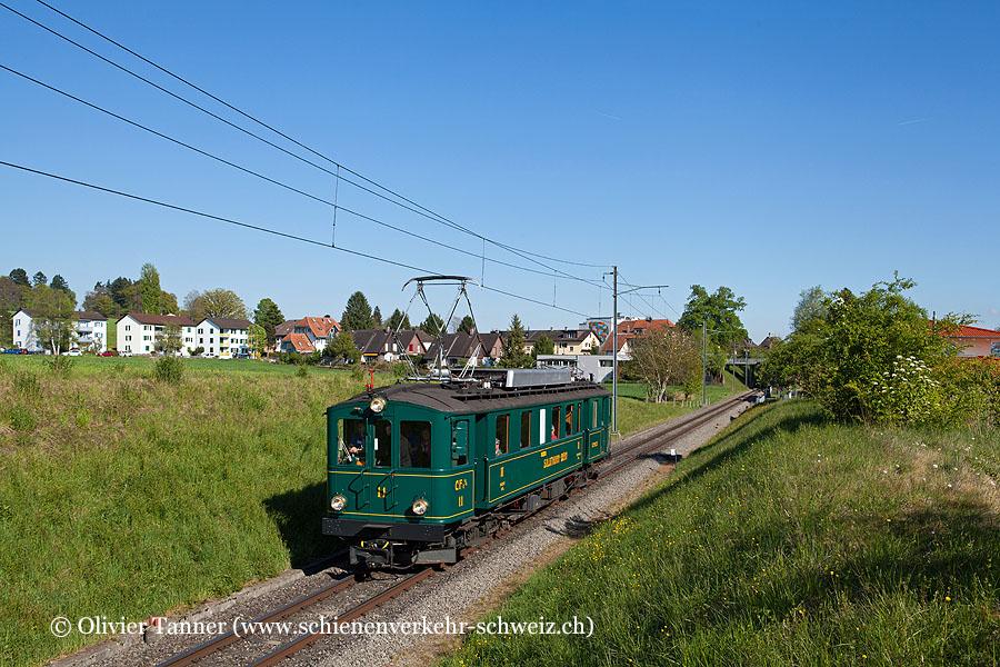CFe 4/4 11 anlässlich der ''Kulturnacht Solothurn'' auf dem Weg nach Solothurn.