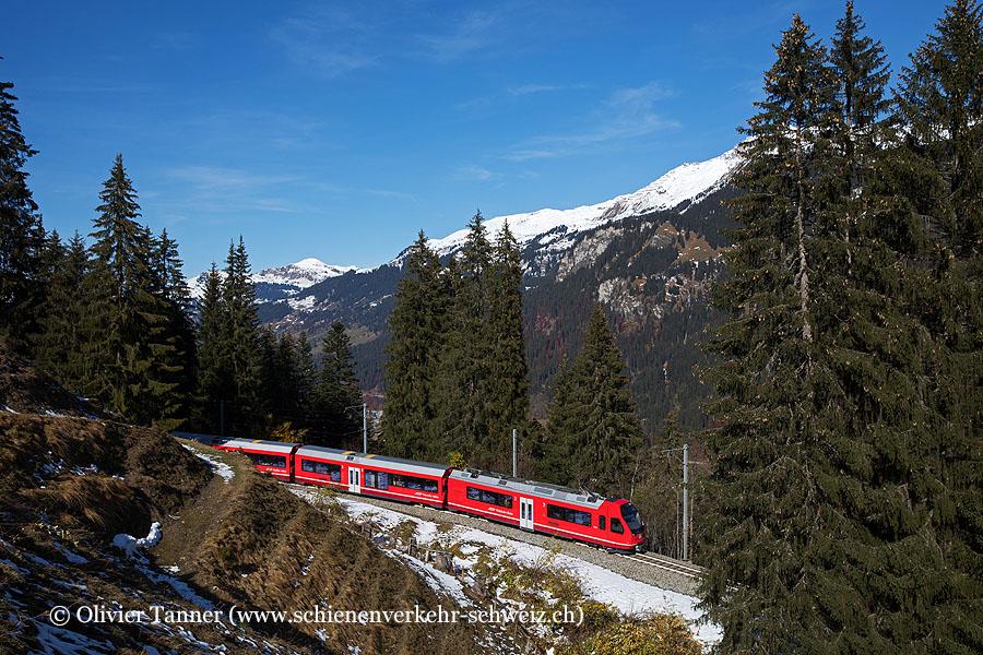 ABe 4/16 3118 als Regio Davos Platz – Klosters Platz