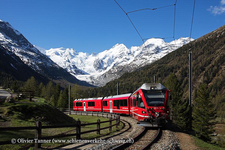 ABe 8/12 3510 als Regio St. Moritz – Tirano