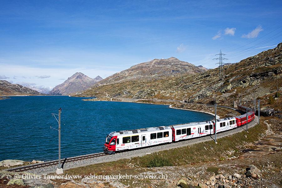 ABe 8/12 3512 ''ABB'' mit Regio St. Moritz – Poschiavo
