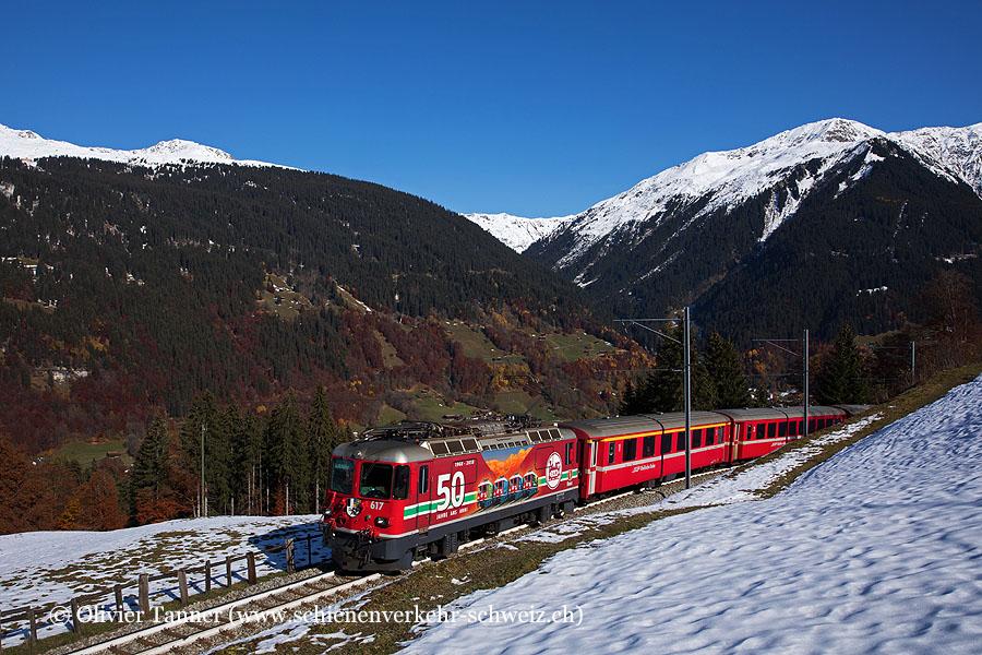 Ge 4/4'' 617 ''50 Jahre LGB'' mit RegioExpress Landquart – Davos Platz